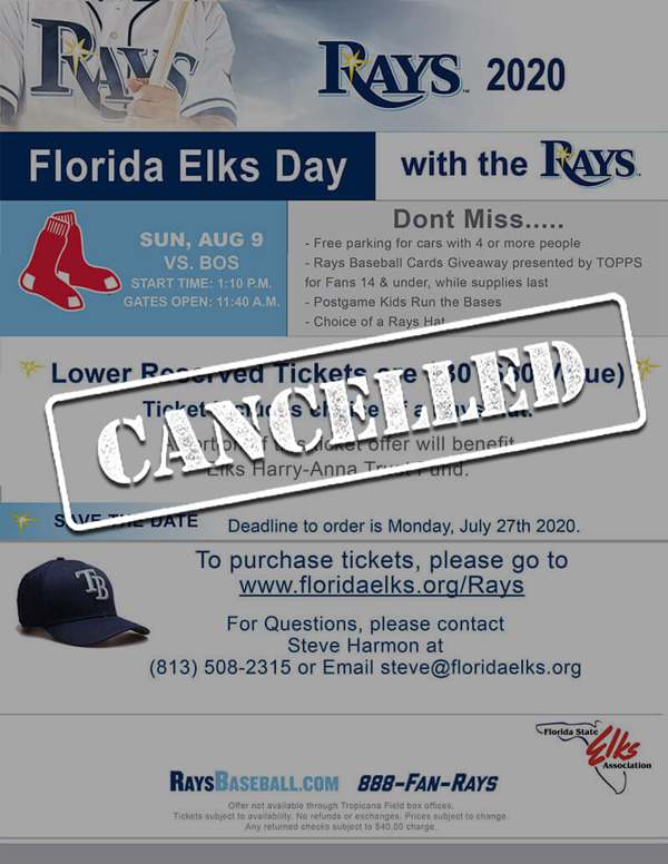 Elks Day at the Rays