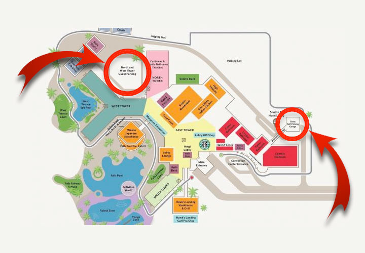 Orlando World Marriott map
